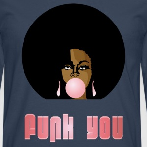 Funk You 70's Retro Bubblegum Afro Queen - Mannen Premium shirt met lange mouwen