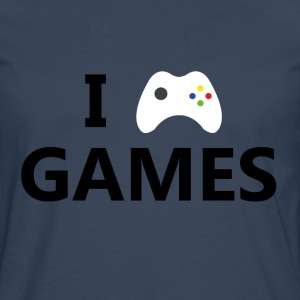 I Love Games - Men's Premium Longsleeve Shirt