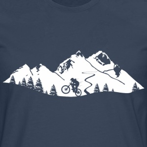 Mountain Bike Trail - Premium langermet T-skjorte for menn
