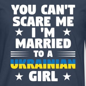 ukrainian wife - Men's Premium Longsleeve Shirt