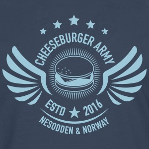 The official Cheeseburger Army logo - Premium langermet T-skjorte for menn