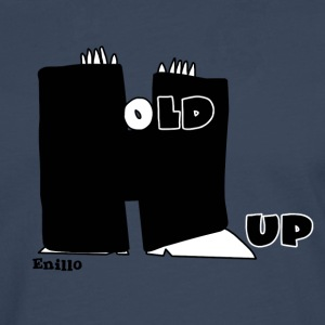 Enillo Hold Up Graphics & Typography - Men's Premium Longsleeve Shirt