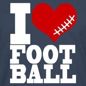 I LOVE FOOTBALL - Men's Premium Longsleeve Shirt