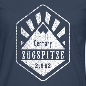 Zugspitze coat of arms - white - Men's Premium Longsleeve Shirt