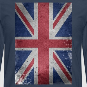 gb-drapeau britannique Union Jack English détruit UK - T-shirt manches longues Premium Homme