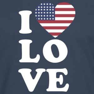 I love USA - Men's Premium Longsleeve Shirt