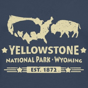 Buffalo Bison Buffalo Yellowstone National Park USA - Premium langermet T-skjorte for menn