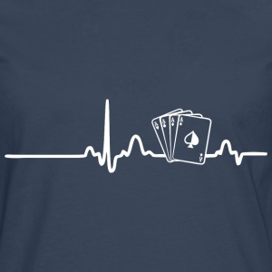 ECG HEART LINE POKER PLAYER white - Men's Premium Longsleeve Shirt