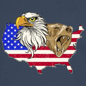 USA Adler eagle grizzly beer America America - Mannen Premium shirt met lange mouwen
