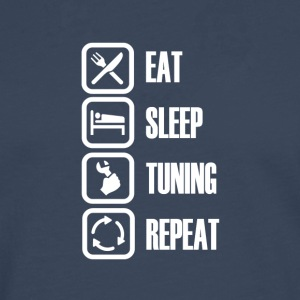 For real tuner! Eat Sleep Tuning - Herre premium T-shirt med lange ærmer