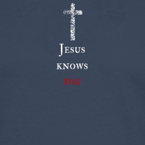 Jesus kennt dich Jesus knows you - Männer Premium Langarmshirt