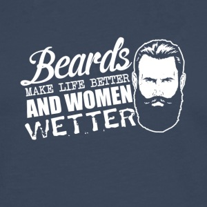 Pun - beards and women - sex, women wet - Men's Premium Longsleeve Shirt