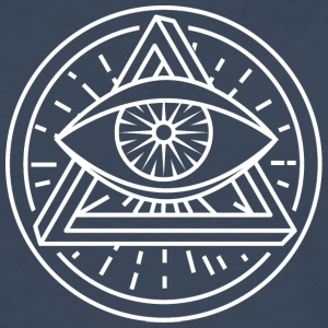 Eye of Providence - Optical Illusion - Herre premium T-shirt med lange ærmer