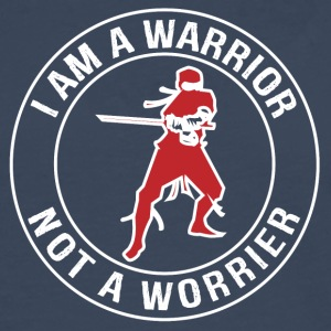 I'm a Warrior, Not a Worrier - Men's Premium Longsleeve Shirt