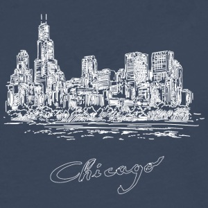 Chicago City - United States - Premium langermet T-skjorte for menn
