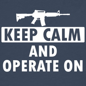 Keep Calm Operate on - Men's Premium Longsleeve Shirt