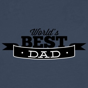 world best dad black - Men's Premium Longsleeve Shirt