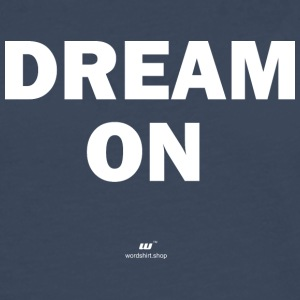 Dream on (vit) - Långärmad premium-T-shirt herr