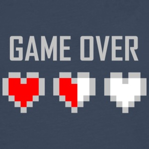 game_over_tshirt_vector_by_warumono1989-d7tn9e8 - Premium langermet T-skjorte for menn