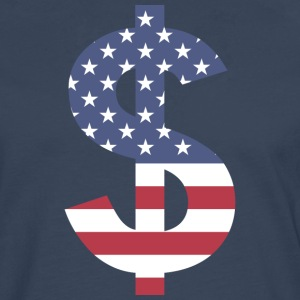 Dollar on American flag - Men's Premium Longsleeve Shirt