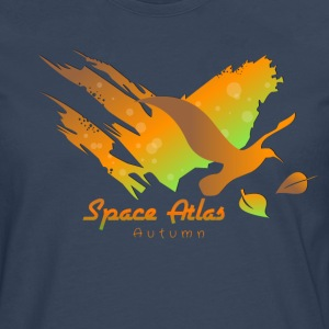 Space Atlas Hoodie Autumn Leaves - Men's Premium Longsleeve Shirt