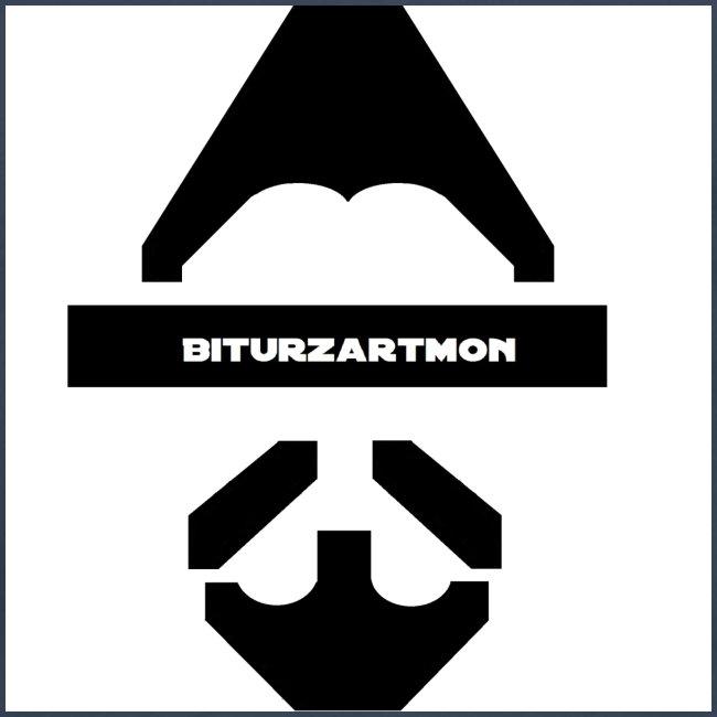 Biturzartmon Logo schwarz/weiss glatt