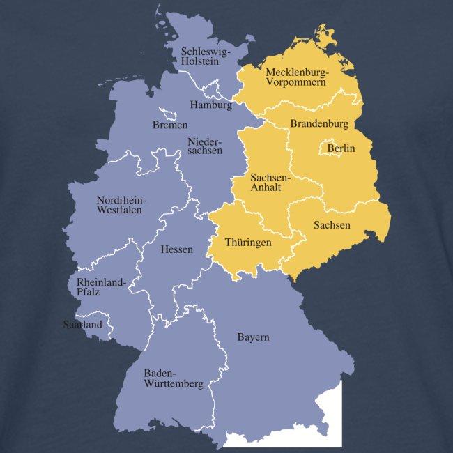Yourshirtsto Deutschlandkarte Manner Premium Langarmshirt