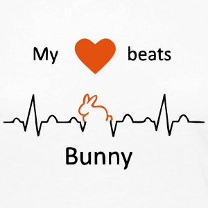 My heart beats for rabbits - Women's Premium Longsleeve Shirt