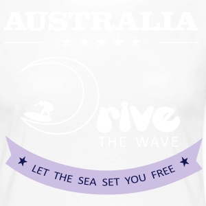 Australien Antrieb The Wave 02 - Frauen Premium Langarmshirt
