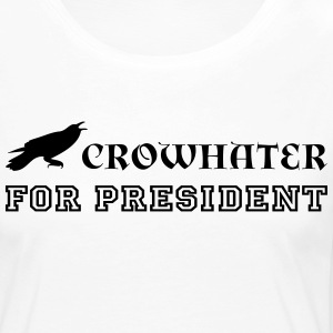 CrowHater for president! - Långärmad premium-T-shirt dam