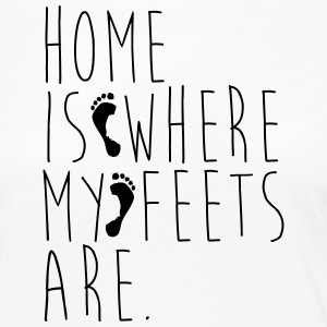 Home is where my feets are - Women's Premium Longsleeve Shirt