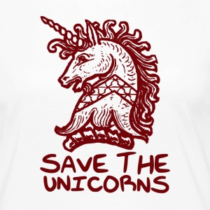 Unicorn - Lagre The Unicorns - Premium langermet T-skjorte for kvinner