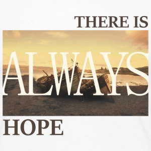 There_is_always_hope_slim_picture_natural - Dame premium T-shirt med lange ærmer