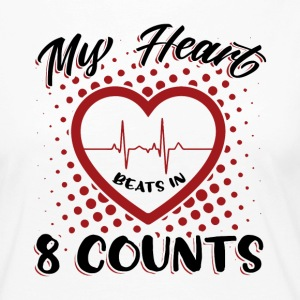 My Heart Beats In 8 Counts - Frauen Premium Langarmshirt