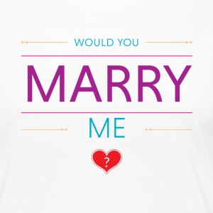 Would you marry me? <3 - Vrouwen Premium shirt met lange mouwen