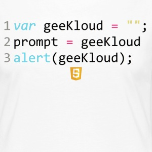Code JavaScript - GeeKloud - T-shirt manches longues Premium Femme