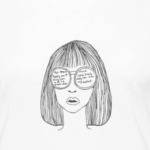 Woman with glasses - Women's Premium Longsleeve Shirt