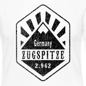 Zugspitze Allemagne - Used Look - T-shirt manches longues Premium Femme