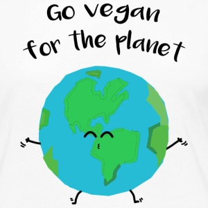 "Vegan for the planet - ""Vegan for the planet"" - Women's Premium Longsleeve Shirt"