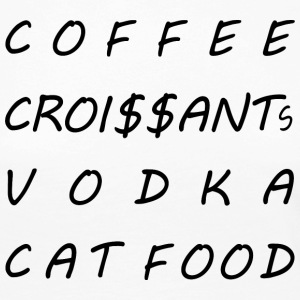 Coffee croissants vodka cat food - Women's Premium Longsleeve Shirt