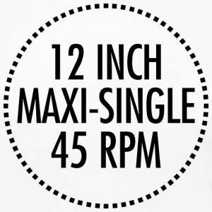 12 INCH MAXI-SINGLE 45 RPM VINYL (sort) - Dame premium T-shirt med lange ærmer
