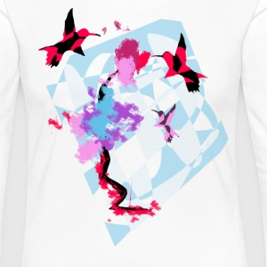 Hummingbird Art - Women's Premium Longsleeve Shirt