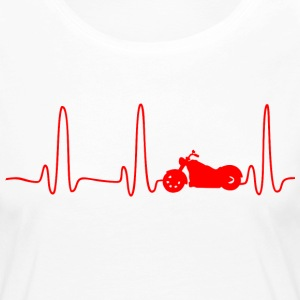 EKG HEART LINE CHOPPER red - Långärmad premium-T-shirt dam