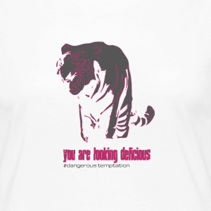 Tiger female you are looking delicious - Frauen Premium Langarmshirt