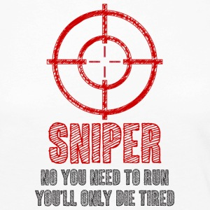 Military / Patriotic: Sniper - No you need to run, - Women's Premium Longsleeve Shirt