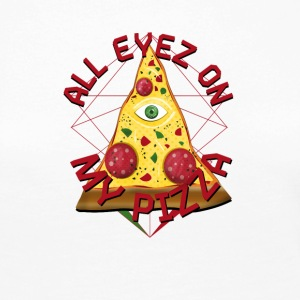 ALL EYEZ ON MY PIZZA Illuminati Italy Fun T-Shirt - Women's Premium Longsleeve Shirt