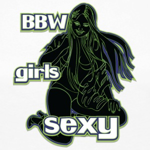 bbw girls sexy black green - Women's Premium Longsleeve Shirt