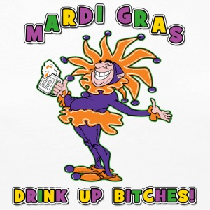 Mardi Gras Drink Up Bitches - Premium langermet T-skjorte for kvinner