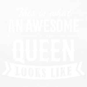 Awesome Queen - Frauen Premium Langarmshirt