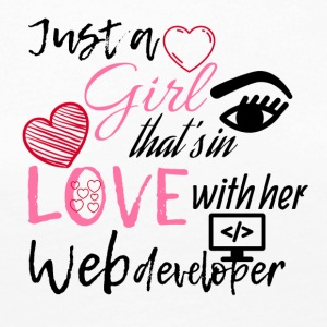 Just a girl who is in love with her web developer - Women's Premium Longsleeve Shirt
